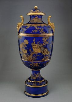 Japanese Decorator, Burroughs & Mountford (American, 1879–ca. 1901). Covered Vase on Plinth, 1892. The Metropolitan Museum of Art, New York. Purchase, Mrs. Moreau D. Brown Jr. Gift, 2001, (2001.631a–d).
