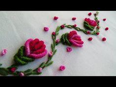 new brazilian embroidery patterns Brazilian Embroidery Stitches, Hand Embroidery Videos, Embroidery Stitches Tutorial, Embroidery Flowers Pattern, Rose Embroidery, Learn Embroidery, Hand Embroidery Designs, Embroidery Techniques, Embroidery Kits