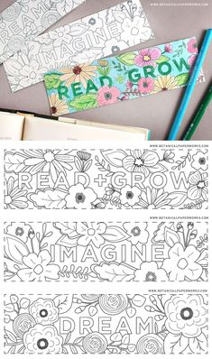 Get the creativity flowing for back-to-school and encourage reading with these blooming Free Printable Coloring Bookmarks printed on seed paper. They are creative, useful, eco-friendly and fun! Free Printable Bookmarks, Bookmarks Kids, Free Printable Coloring Pages, Free Coloring Pages, Coloring Books, Free Printables, Bookmarks To Color, Paper Bookmarks, Printable Book Marks