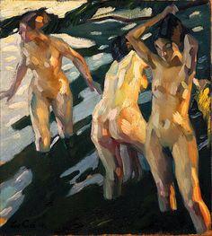 Leo Putz (Austrian, 1869-1940) - Bathers, 1914