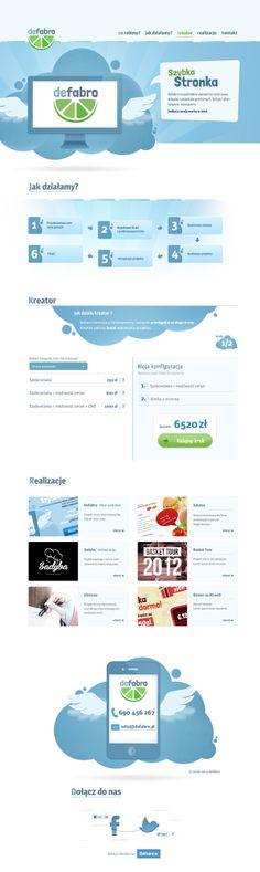 Unique Web Design, Defabro @bestdesignever #WebDesign #Design (http://www.pinterest.com/aldenchong/)