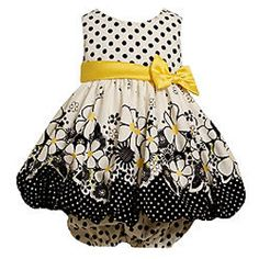 Bonnie Jean Black and Yellow Flower Dot Dress.  More on: http://stuffmomsandkidslikebest.blogspot.com/