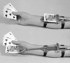 The Kepplinger Holdout card cheating device, late 19th century.