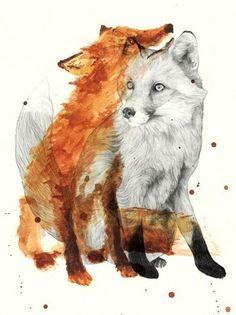 Twin Fox Tattoo Idea