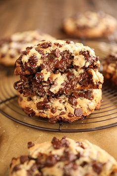 My Recipes, Dessert Recipes, Desserts, Colored Cookies, Gooey Chocolate Chip Cookies, Recipe Filing, Food Scale, Cookies Ingredients, Sweet Tooth