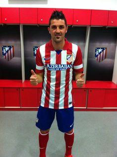 ~ David Villa on Atletico Madrid ~ Soccer Players, Football Soccer, Louie Vito, David Villa, European Football, Best Player, Premier League, Olympics, Beautiful People