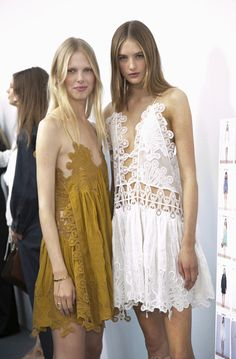 Bohemian Style Inspiration: Chloé Spring 2015 runway backstage #johnnywas