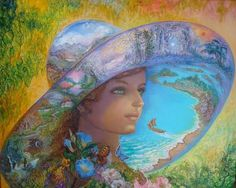 """The Hat of Timeless Places"" Josephine Wall - This is absolutely stunning!"