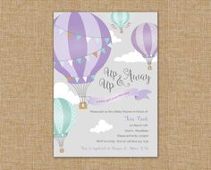 Up Up & Away Hot Air Balloon Baby Shower by CarolLnDesigns
