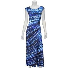 Indication by ECI Tie-Dye Ruched Maxi Dress - Women's