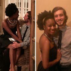 "blackgirlwhiteboylove: ""Me and my formal date! - http://qvirkyqvirks.tumblr.com/ """