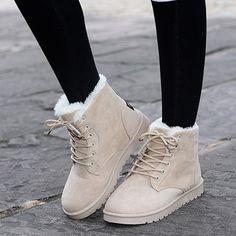 Mulheres inverno botas de neve moda 2016 estilo de cor sólida feminino ankle boots para as mulheres sapatos confortáveis quentes botas mujer ST903 em Botas das mulheres de Sapatos no AliExpress.com | Alibaba Group