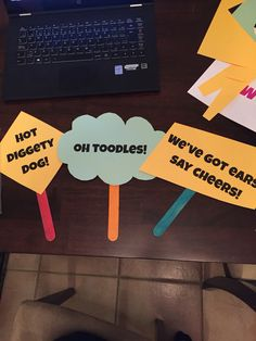 Sayings props for Minnie photo booth