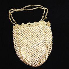 1920's art deco rhinestone drawstring bag by iamia   notonthehighstreet.com