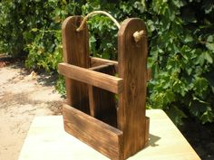Items similar to Screw It, Wine Caddy, wine holder, hostess gift, wooden wine carrier on Etsy Wooden Wine Holder, Wood Wine Bottle Holder, Wood Wine Racks, Wine Glass Holder, Wine Stand, Wine Caddy, Wine Carrier, Outdoor Furniture Plans, Wine Display