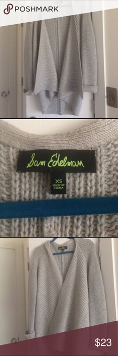 """Sam Edelman (fantastically soft) sweater This is a long, draped, open front cardigan from San Edelman. I'm 5'6"""" and the back hem stops just above my thighs. Nylon/Acrylic/rabbit hair/wool blend.  Size XS.  Please feel free to contact me with any questions or for more information on any of my listings :) Sam Edelman Sweaters Cardigans"""