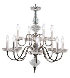 Crystorama 4209-PW Signature 12 Light 29 inch Pewter Chandelier Ceiling Light #LightingNewYork