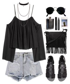 """""""Sziget festival"""" by brigi-bodoki ❤ liked on Polyvore featuring H&M, Ray-Ban, Cut N' Paste, Urban Outfitters, NARS Cosmetics and Topshop"""
