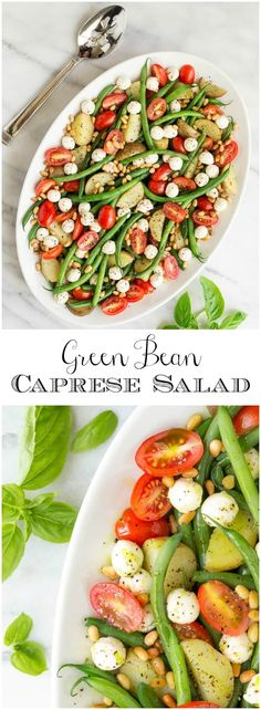 This flavorful salad combines slender green beans and tender baby potatoes with classic Caprese ingredients.