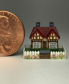 OOAK Miniature Dollhouse English Cottage Micro Triang Handcrafted 1 4 Doll House | eBay