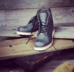 Red Wing 8152 in Gray Rough & Tough leather.