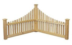 Rustic Natural Cedar 600550 Wood Corner Fence traditional-home-fencing-and-gates… - Modern Indoor Garden, Outdoor Gardens, Tea Gardens, Cedar Fence Posts, Home Fencing, Garden Fencing, Cedar Furniture, Outdoor Furniture, Northern White Cedar