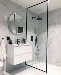 40 of The Best Modern & Functional Bathroom Design Ideas bathroomdecor bathroomdesign bathroomideas. Bathroom Renos, Small Bathroom, Master Bathroom, Bathroom Ideas, Bathroom Mirrors, Bathroom Cabinets, Bathroom Layout, Basement Bathroom, Bathroom Colors