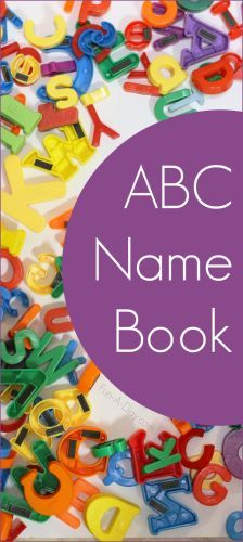 Create an ABC name book when teaching the alphabet to kids - great idea for classroom or homeschool use