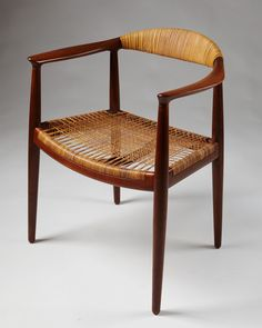 "Armchair ""The Chair"", designed by Hans Wegner for Johannes Hansen, — Modernity"