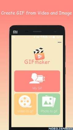 Gif Maker(pro) v1.06Requirements: 4.0.3+Overview: Are you wondering how to make a gif? GIF maker helps you create animated GIFs from photos and videos quickly and easily!With Gif Maker, you can create gif from pictures and camera, trim video and...