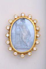 Gold and Moonstone Pin/Pendant by Elizabeth Locke
