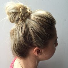 Day 131: Messy Braided Top Knot #topknot #braid #casual #cute #hairstyle