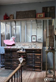 Atelier on pinterest drawers vintage industrial and - Decoration industrielle vintage ...