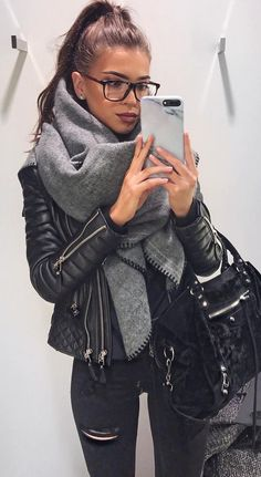 spring fashion trends or how to wear leather jacket