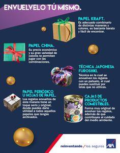 Una forma de #ahorrar en está #Navidad es envolver tus #regalos con el mínimo #presupuesto. ¡Aquí te dejamos unas #recomendaciones!