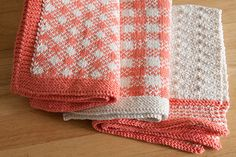 Gingham Towel Set from Retro Kitchen Knits