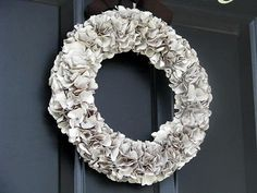 Paper bag wreath with a little spray paint