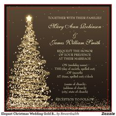 Elegant Christmas Party Gold Shimmering Lights Invitations Eat