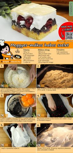 Hungarian Desserts, No Bake Cake, Camembert Cheese, Food And Drink, Kitchen Craft, Sweets, Baking, Cakes, Dios