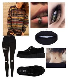 """""""Untitled #195"""" by aby-est ❤ liked on Polyvore featuring beauty, Topshop and T.U.K."""