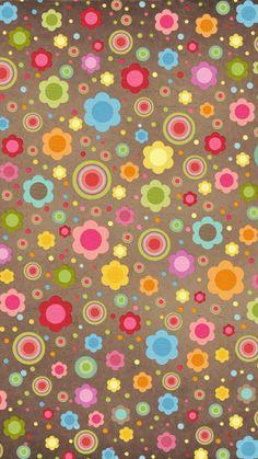 #cute #flowers #retro #wallpaper #background