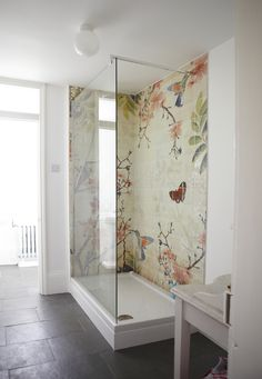 mosaic tile in the shower
