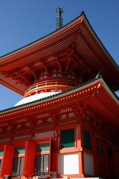 Kongōbu-ji, Wakayama, Japan Go To Japan, Japan Trip, Japanese Buildings, Japanese Colors, Japanese Temple, Wakayama, Travel Goals, Japanese Culture, Japan Travel