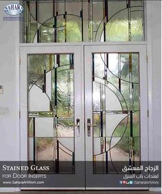 A very beautiful stained glass and crystals door inserts what do a very unique stained glass door inserts with modern design planetlyrics
