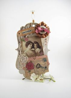 Mother Daughter Ornament  Victorian Vintage Style by AvantCarde, $20.00