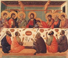 'Last Supper', Tempera by Duccio Di Buoninsegna (1257-1318, Italy)