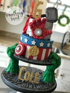 Great Picture of Marvel Birthday Cake . Marvel Birthday Cake Avengers Birthday Cake Marvel Hulk Ironman Captain America Thor Www Avengers Birthday Cakes, Superhero Birthday Cake, Cool Birthday Cakes, Birthday Cupcakes, 5th Birthday, Lego Superhero Cake, Lego Cake, Happy Birthday, Hulk Cakes
