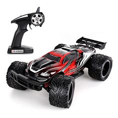 Remote Control Car For Kids - Rock Crawler 4x4 RC Car - 1:12 Scale Rock Master Rock Crawler by Amzdeal (Red+Black): Amazon.co.uk: Toys & Games