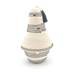 Peace Basket Ivory with Black Stitch Spot Cleaner, Cotton Rope, Sale Items, Ivory, Basket, Peace, Stitch, Full Stop, Sobriety