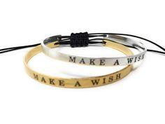"""MAKE A WISH"" Bangle Bracelet"